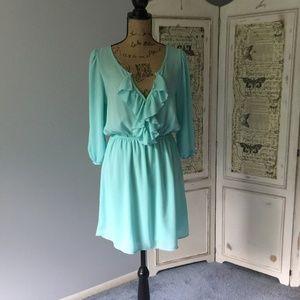Dottie Couture Boutique Tiffany Blue Dress Sz L